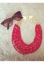 Black-handbag-justfab-bag-white-pitaya-dress-red-heels-red-etsy-necklace