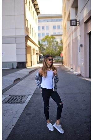 silver asos jacket