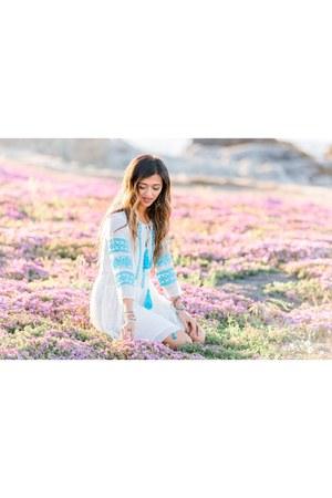 light blue intermix dress