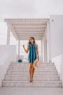 Blue-revolve-dress