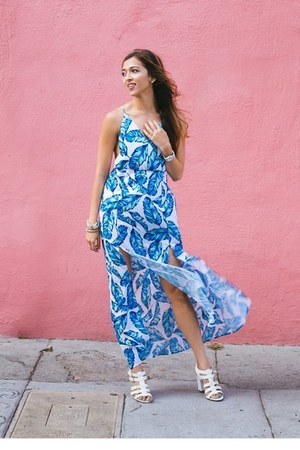 sky blue beginning boutique dress
