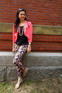 Salmon-love-culture-blazer-ivory-forever-21-bag-black-h-m-pants