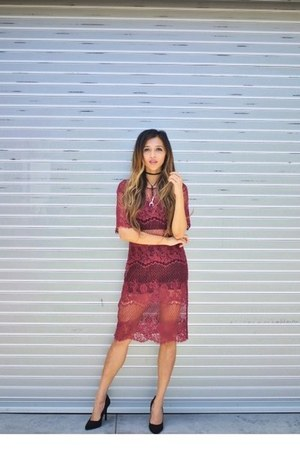 maroon nakd dress