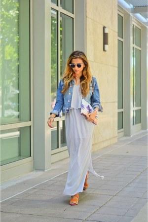 light blue H&M jacket