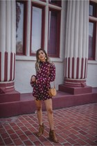 maroon roe and may romper
