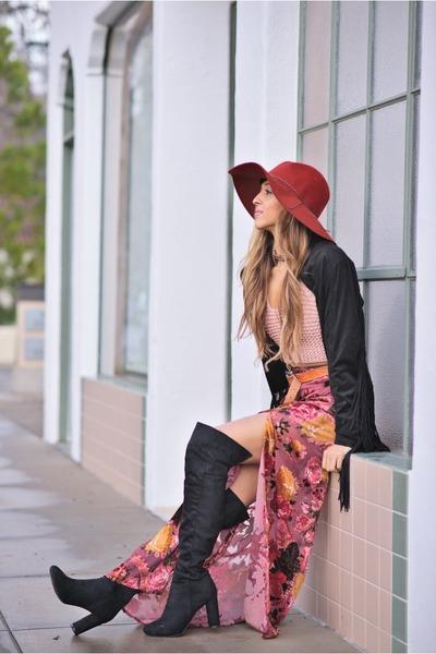 magenta Tobi skirt