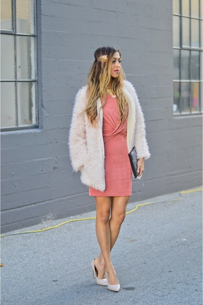 salmon MinkPink dress