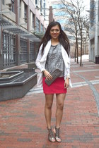 silver sequins Forever 21 top - ivory Express cardigan