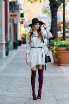 maroon asos boots