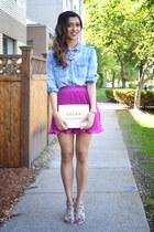 hot pink Forever 21 skirt