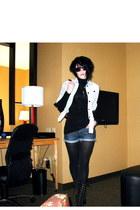 proenza schouler jacket - H&M top - Steve Madden boots