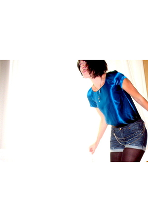 Kenzie blouse - Forever 21 shorts - Express tights