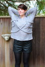 Charcoal-gray-rope-queens-wardrobe-sweater-black-vintage-boots