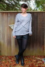 Black-vintage-boots-charcoal-gray-rope-queens-wardrobe-sweater