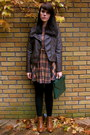 Chelsea-river-island-boots-plaid-asos-dress-faux-leather-forever-21-jacket