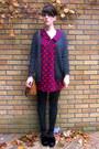 Platforms-asos-shoes-deep-purple-polka-dot-asoss-dress-wool-h-m-cardigan
