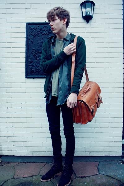vintage bag - Floris Van Bommel shoes - Cheap Monday pants