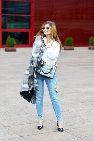 Zara jeans - zaful coat - Mango shirt