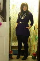 forever 21 dress - tights - belt - accessories - shoes