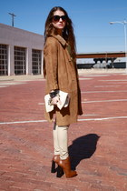 suede vintage coat - leather Alexander Wang boots - leather Forever 21 leggings