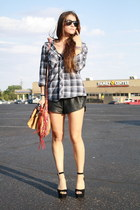 Urban Outfitters shirt - leather Urban Outfitters shorts - mary janes Steve Madd