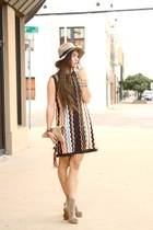 knit Missoni dress - gregory Jeffrey Campbell boots - fedora asos hat