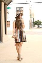 knit Missoni dress - gregory Jeffrey Campbell boots - fedora asos hat