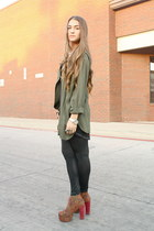 Jeffrey Campbell boots - American Apparel leggings - vintage top