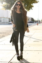 wax Zara jeans - Forever 21 sunglasses - Zara top - Steve Madden heels