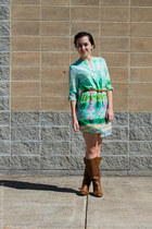 Steve Madden boots - Under Skies dress - kate spade earrings