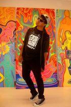 black Kajikun t-shirt - gray J Ferrar shirt - black Guess vest - black Social Co