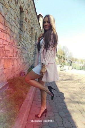 light pink Sheinside coat