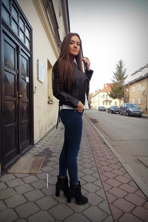 black shein jacket