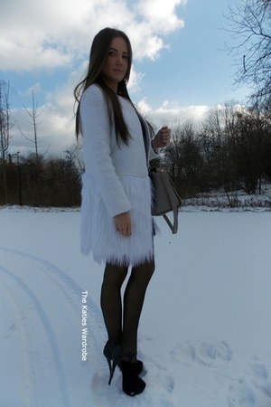 white Sheinsidecom coat