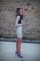 white Missguided dress