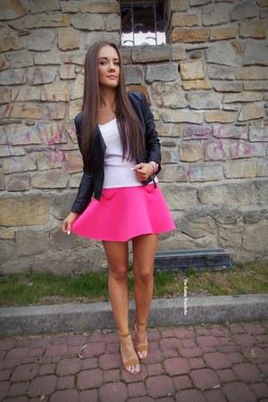 hot pink Sheinsidecom skirt