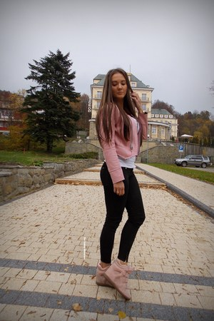 light pink shein jacket