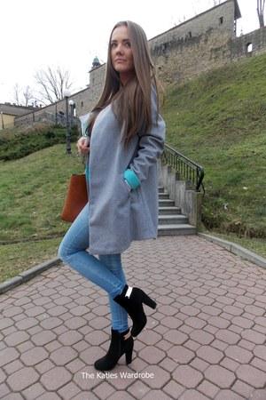 heather gray OASAP coat