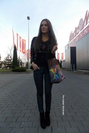 black StyleMoi jacket - green Choies bag