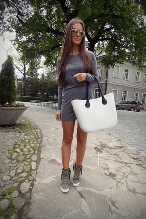 heather gray Romwecom dress