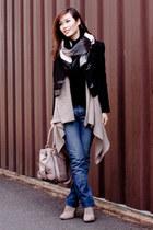 Pour La Victoire boots - ann taylor jacket - H&M sweater - H&M shirt - bcbg max