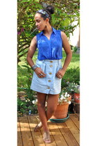 Cooperative skirt - sleeveless Love I Tree blouse - polka dots Lulus accessories