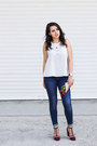 Navy-zara-jeans-crimson-stradivarius-sandals-white-stradivarius-top