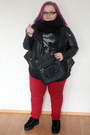 Black-faux-suede-have2have-shoes-red-red-skinny-asos-curve-jeans