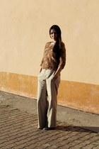 beige Massimo Dutti pants