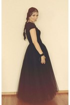 black unknown brand skirt - black Bottega Veneta bag