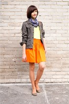 tawny H&M bag - orange Zara skirt