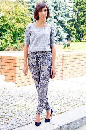 silver Only blouse - gray Only pants