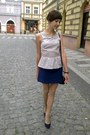 Neutral-h-m-blouse-blue-h-m-skirt