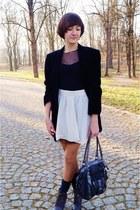 black  blazer - black Bialcon blouse - neutral DIY skirt